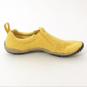 Merrell Barefoot Slip On Yellow Lace Vibram Shoes